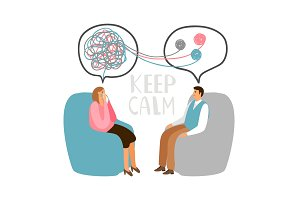 Psychotherapy concept illustration