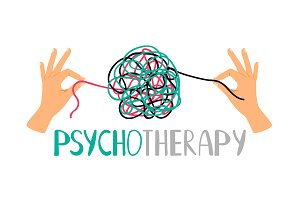 Psychotherapy concept icon