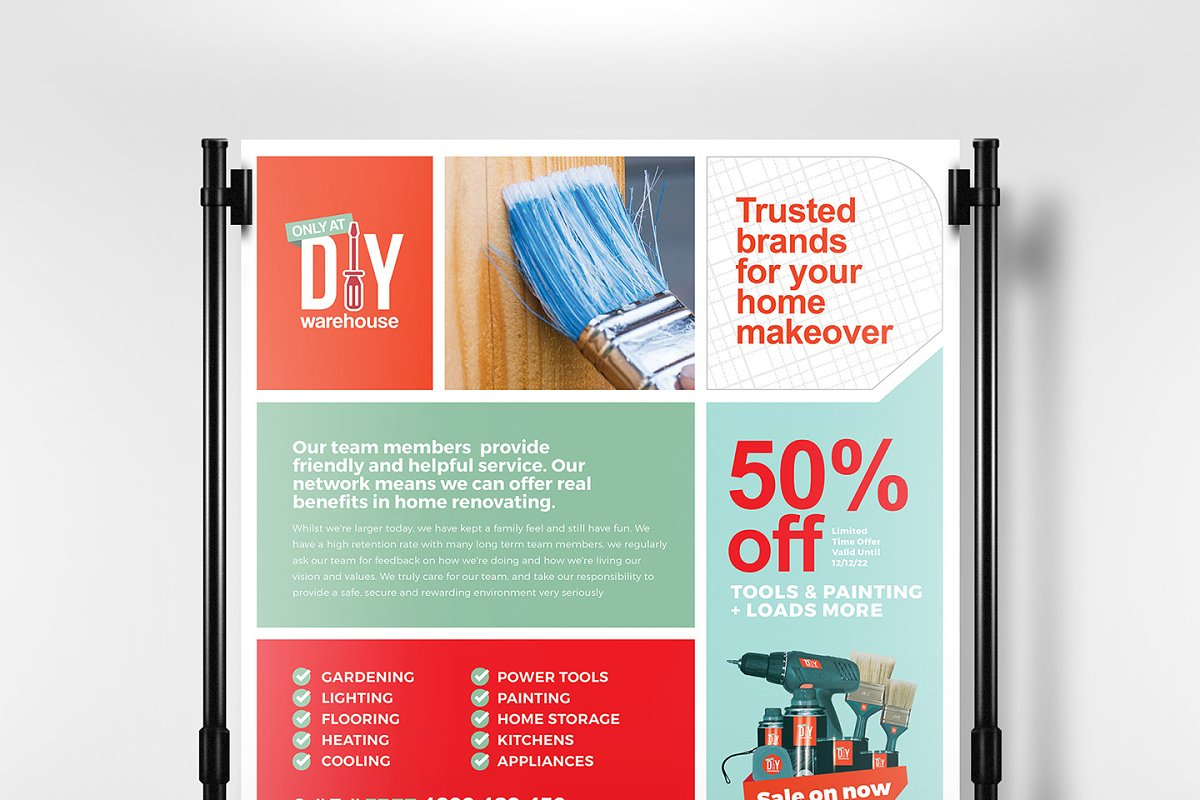 Diy Tool Supply Poster Template Flyer Templates Creative Market