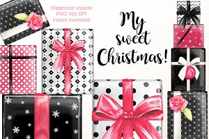 Sweet christmas gifts clipart