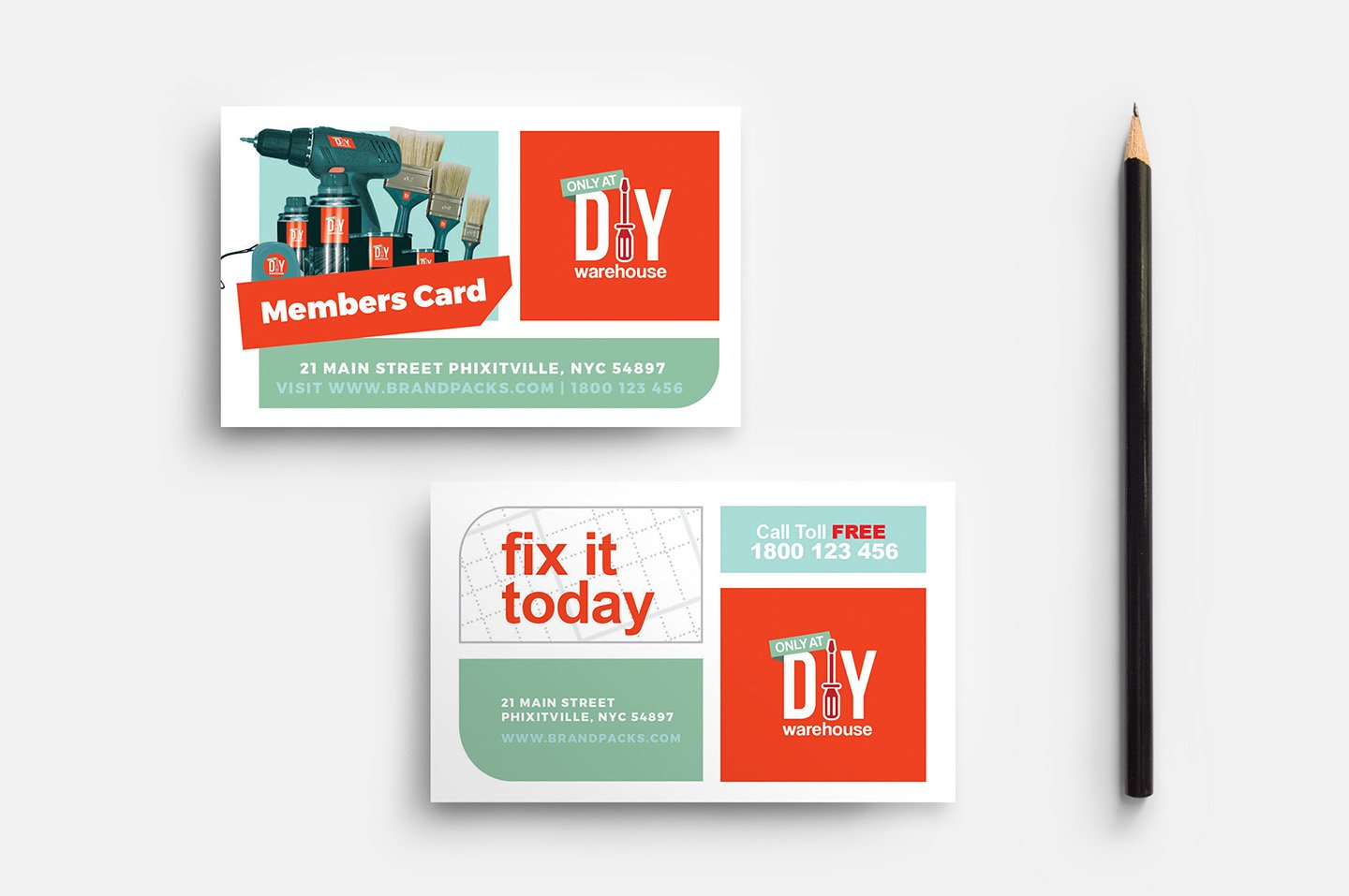 Diy Tool Supply Business Card Templates Creative Market