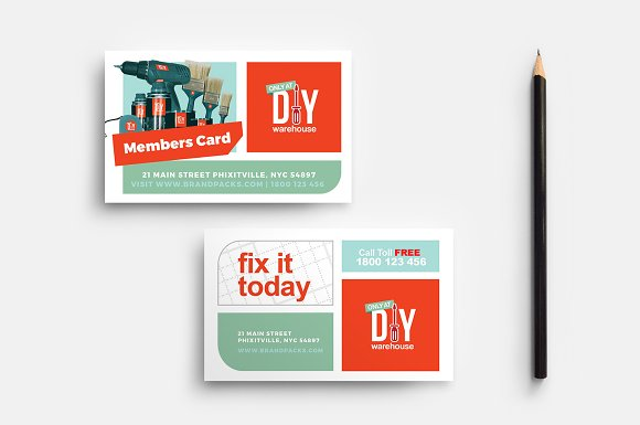 Diy Tool Supply Business Card Cards
