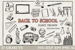 Back to School Illustration Pack