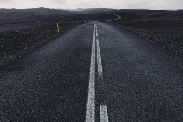 Transportation Stock Photos: Sergey Furtaev - Black road in Iceland