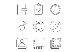 UI/UX linear icons set