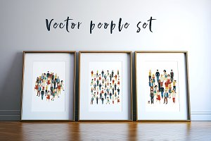 Vector people set