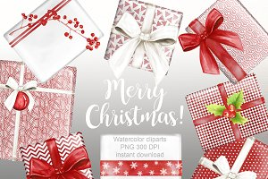 Christmas gift clipart