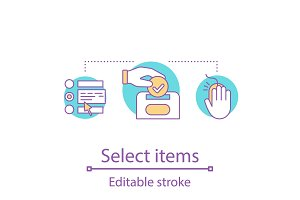 Select items concept icon