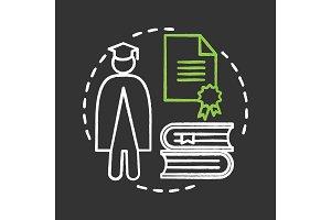 University chalk concept icon