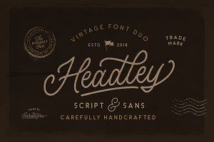 Headley - Vintage Font Duo (30% OFF)