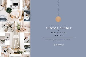 PHOTOS & PUZZLE. FEBRUARY