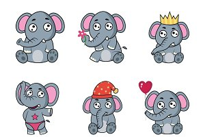 Cartoon Elephant Illustration