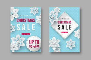Christmas sale posters with