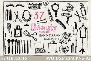 Beauty Products Illustration Pack