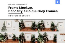 Frame Mockup Boho Style by  in Product Mockups