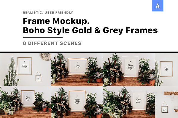 Product Mockups - Frame Mockup Boho Style