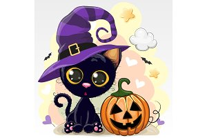 Halloween illustration of Cartoon