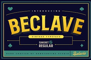 Beclave - Vintage Typeface