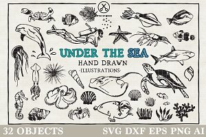 Under the Sea Illustration Pack