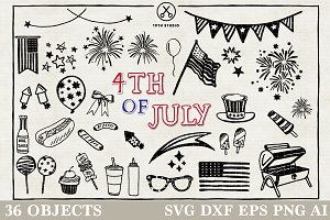 4th of July Illustration pack