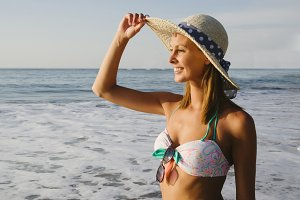 fashion woman at beach