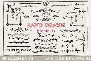 Vector Hand Drawn Elements