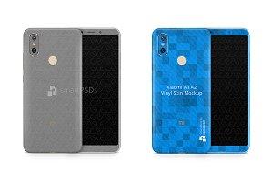 Xiaomi Mi A2 Vinyl Skin Mockup