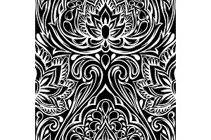 Indian ethnic seamless pattern.