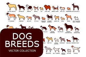 Dog Breeds Vector Pack