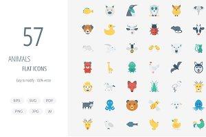 50+ Animals Flat icons