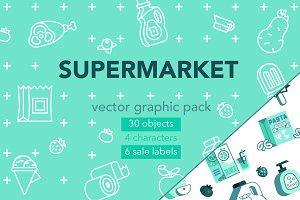 Supermarket graphic pack