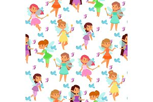 Fairies princess fairy girl vector
