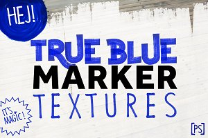 TRUE BLUE MARKER TEXTURES