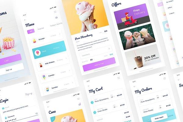 Moocream App Ui Psd Mockup Download Free Premium Mockups Templates