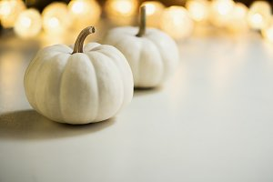 Pumpkins or white gourds.