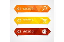 Vector paper triangle option banner