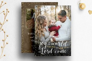 Christmas Card Template Photoshop 03