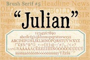 Brush Serif - Julian *HAND PAINTED*