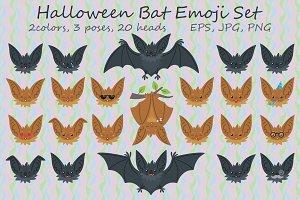 Cute Halloween Bat Smiley