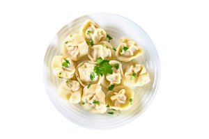 Ready dumplings. Dumplings isolated