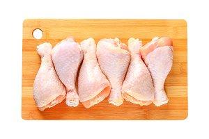 Chicken legs. Chicken legs isolated
