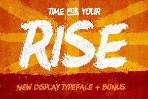 RISE • Brush typeface + Bonus