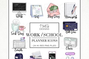 To Do Planner Task Icons Work School