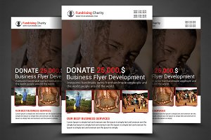 Charity Fundrising Flyer Print Templ
