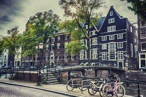Old Amsterdam near Oudezijds Voorbur