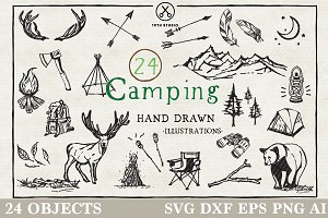 Camping Illustration Pack