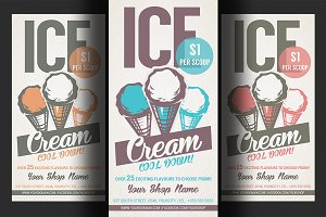 Ice Cream Shop Promotion Flyer