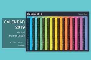 Calendar 2019 Planner Design