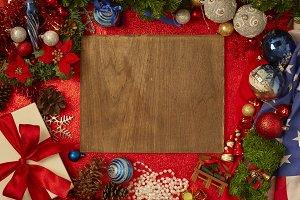 Frame Christmas decoration concept