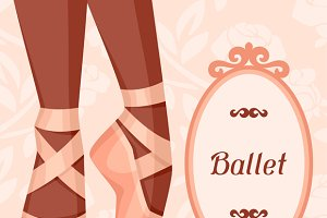 Invitation cards to ballet show.